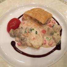 フランス料理の魚料理