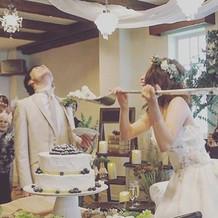 ウェディングケーキも大満足でした!