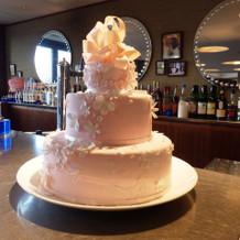 かわいいウケーキが飾ってありました。
