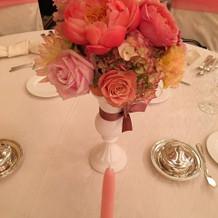 ゲストテーブルお花