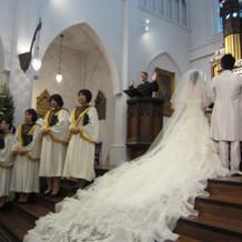 挙式での聖歌隊