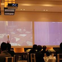 大スクリーンで会場の様子が見れます
