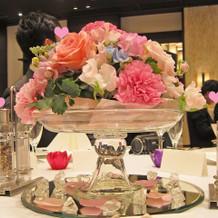 ゲスト席の花