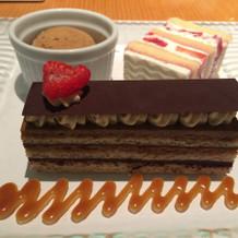 チョコとコーヒーのケーキ