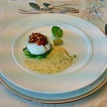 鯛のお料理。非常に美味しかった!