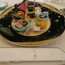 和食の前菜。見た目も華やか。