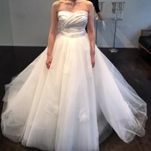 マーメイドドレスにチュールスカート