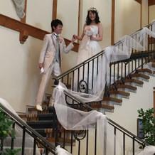 大きな階段で入場もはえました