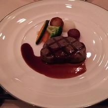 国産牛フィレ肉のグリエ