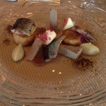 秋刀魚のパテとコンフィ