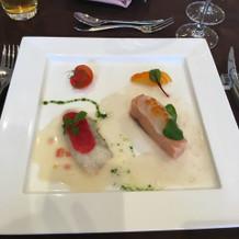 魚料理。新鮮で美味しかったです!