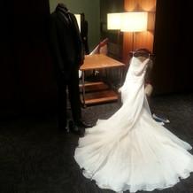 衣装室にかざってあったドレス。