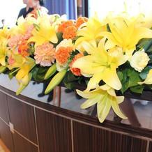 高砂席の満開の花です。