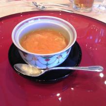 ふしぎな味がするスープです