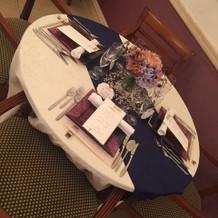テーブルクロスは好みの色で可能だそう