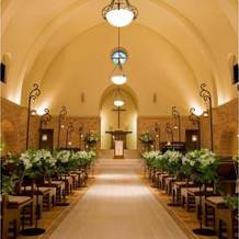 参列した教会の写真です