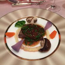 特選牛フィレ肉のステーキ