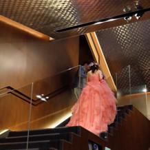 ガラスなのでドレスが綺麗に見えた