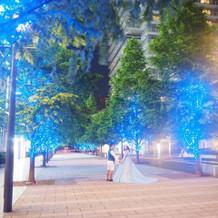 透き通るようなブルーのドレスを選びました