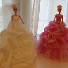 新婦と同じドレスのバービー