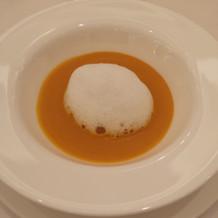 かぼちゃのスープでした!