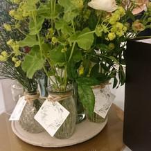 テーブルの上のお花もモチーフで素敵でした