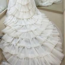 ドレスの後ろ
