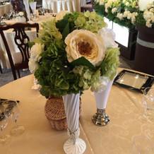 ゲスト席装花。