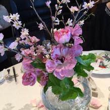 桜づくしの会場装花