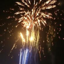 みんな喜んでいたサプライズ花火