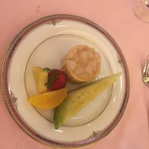 試食会でのデザート。