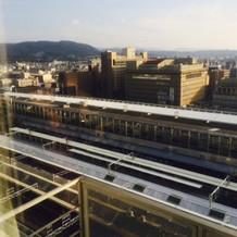 宿泊部屋からは京都が一望できる