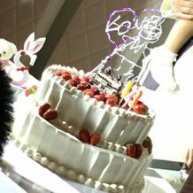 2段のケーキは見栄えも良かったです。