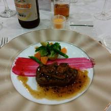 大好評だったお肉。フォアグラが柔らかい。