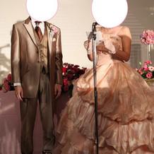 ピンクのカラードレス♪