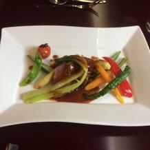 牛ヒレ肉とお野菜。