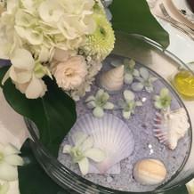 披露宴をされる方のテーブル装花