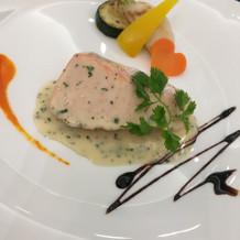 魚料理(メインの前)