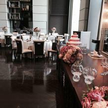 テーブル卓の花