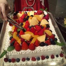 ゲストが作ってくれた生ケーキ
