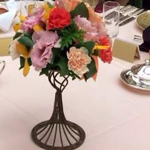 テーブルの花です