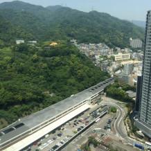 新神戸駅方面の景色