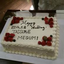 世界に1つのケーキでーす。