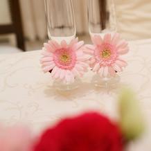 グラスのお花