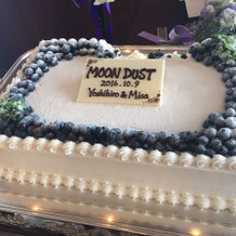 テーマ~Moondust~入りケーキ