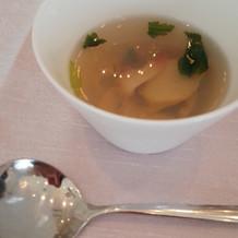 ゲストにも好評だったスープ