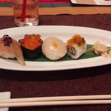 お寿司もおいしかった