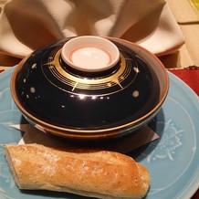 ビーフシチューも和食器で出てきます