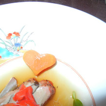 魚(にんじんがハート)