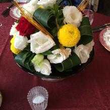 グレードアップテーブル装花(和)